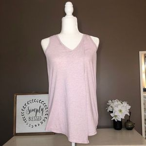 Lululemon Mauve Cross Front V Neck Tank